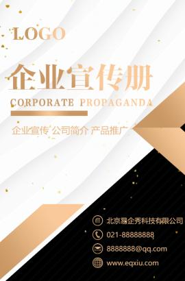 商务大气高端通用企业宣传画册招商合作加盟推广宣传