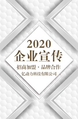 简约大气蜂巢质感企业宣传公司简介招商加盟品牌推广