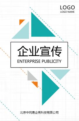 清新几何时尚画册企业宣传公司简介招商加盟品牌推广