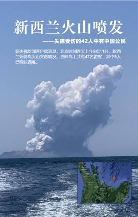 新西兰火山喷发中国公民失踪