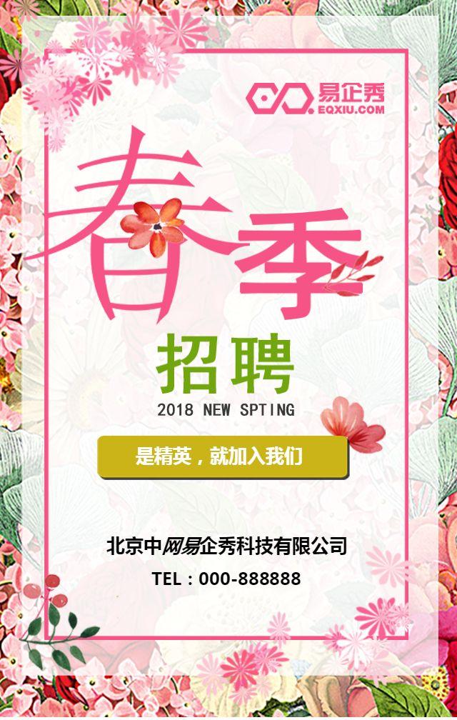 小清新企业招聘 春季招聘