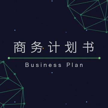 高端大气企业商务计划书模版