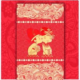 时尚中国风/红色喜庆/中式古典婚礼邀请函