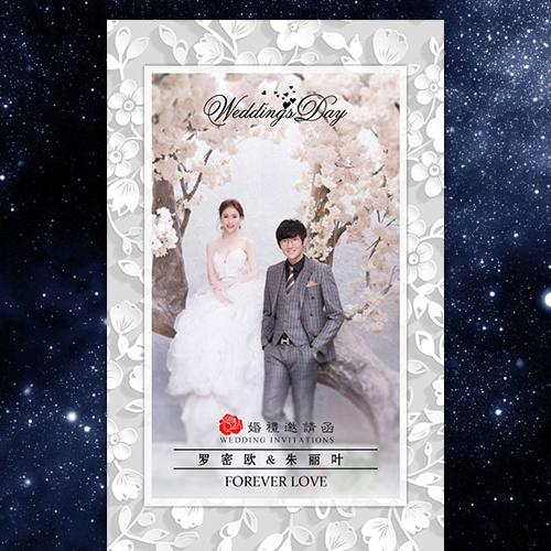 浪漫温馨大气简约韩式韩版欧式轻欧轻奢婚礼邀请函
