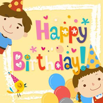 生日邀请函 音乐相册 儿童派对 宝宝满月酒 百日宴
