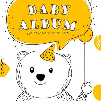 萌宝相册 儿童相册 宝宝成长 百日宴 满月生日 可爱相