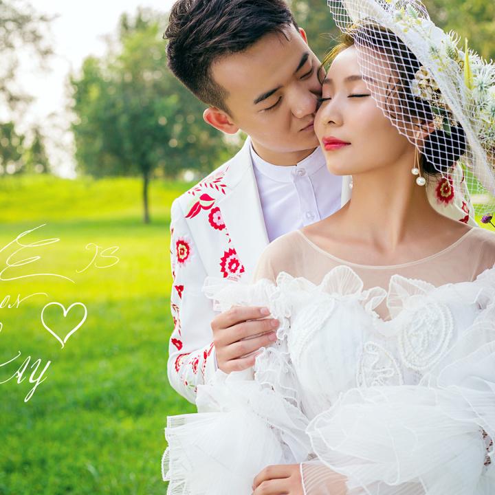 高端韩式婚礼请柬结婚喜帖简约唯美大气婚礼邀请函
