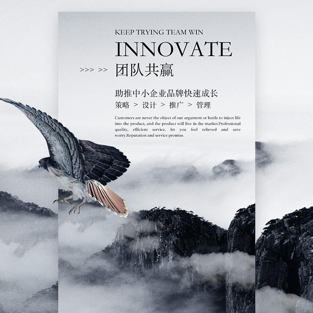 大气震撼黑白企业宣传公司简介水墨价值文化商务画册