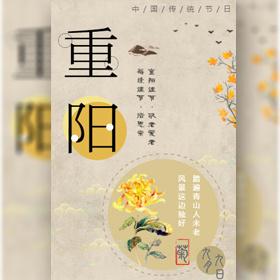 重阳节企业产品礼品宣传