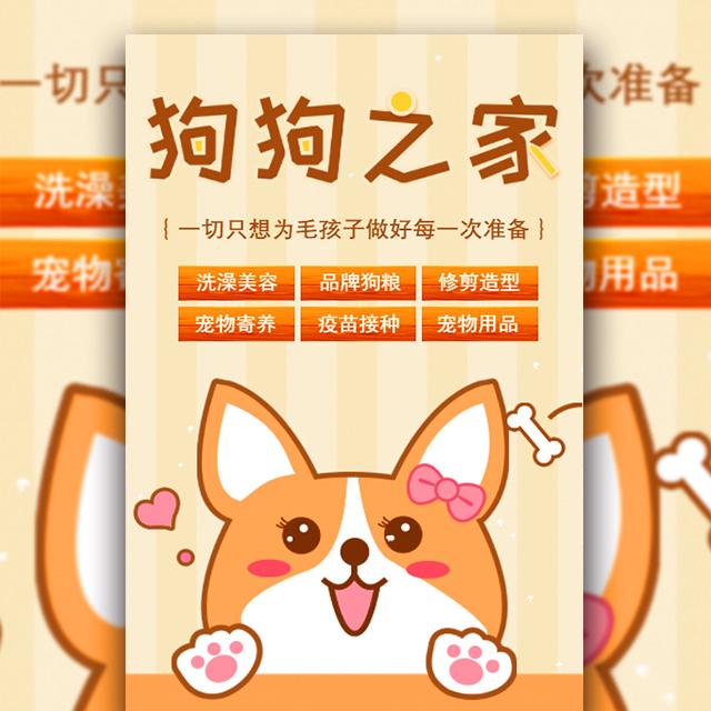 狗狗之家可爱宠物用品促销宣传
