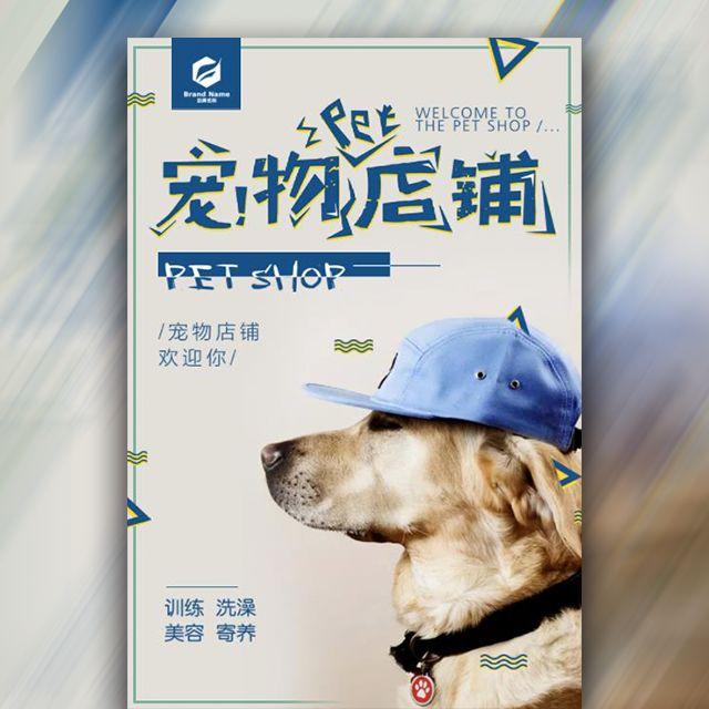 宠物店铺企业宣传大气模板