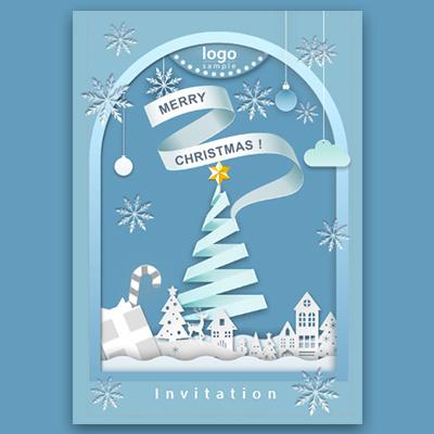 一镜到底冰雪世界圣诞节主题活动邀请函