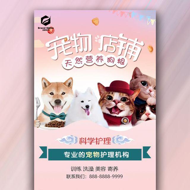 宠物店铺生活馆企业宣传大气模板