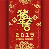 2019猪年新春企业个人除夕拜年祝福猪年大吉
