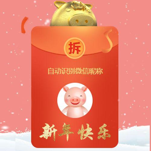 红包大拜年新春祝福贺卡宣传