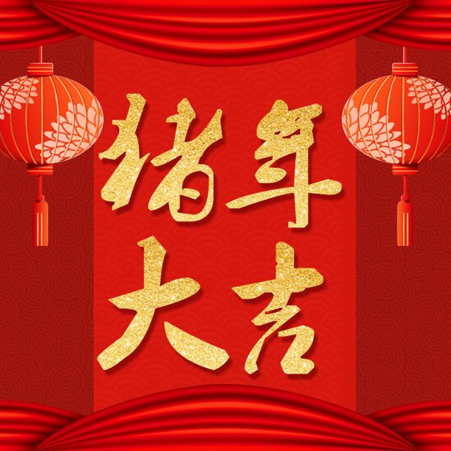 春节快乐猪年大吉