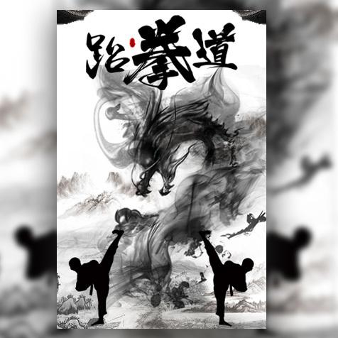 水墨武术跆拳道散打搏击招生培训宣传推广