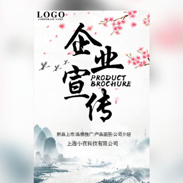 中国风水墨企业宣传公司简介企业画册宣传册