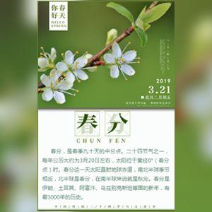 24节气之春分企业祝福宣传