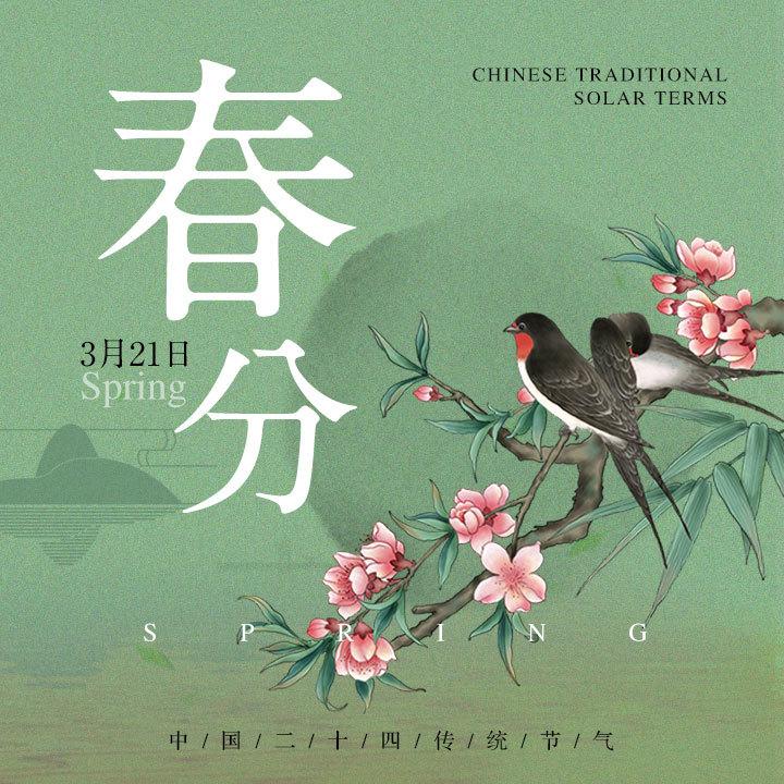 二十四节气春分自媒体宣传推广