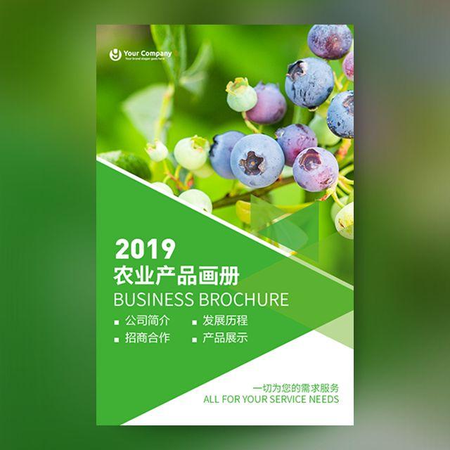 绿色农产品宣传画册企业公司产品介绍招商推广水果