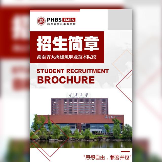招生简章高等院校技术学校自考成人大学单招统招宣传