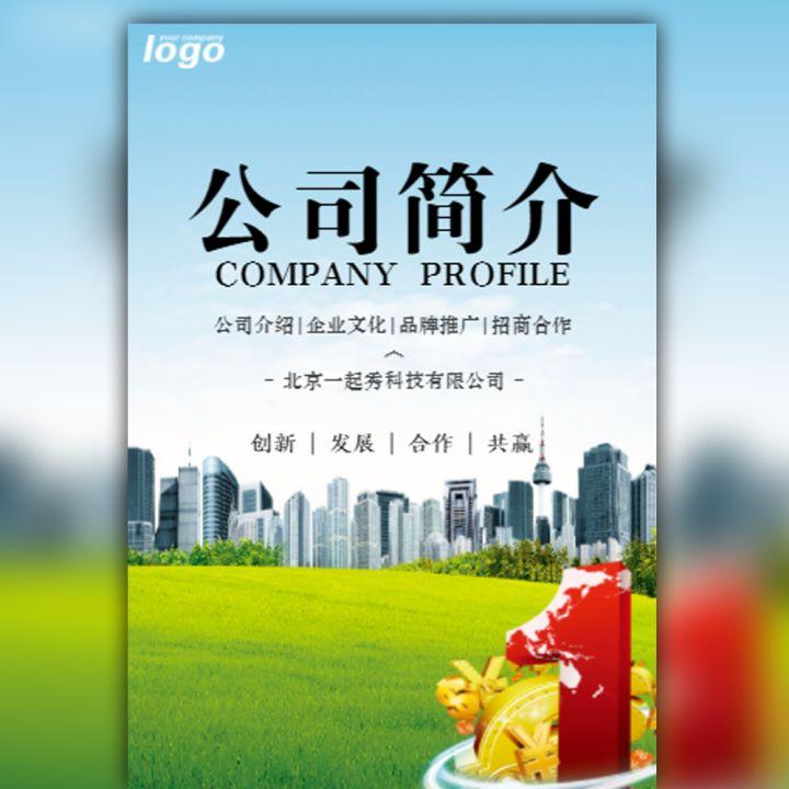公司简介招商融资品牌推广企业宣传画册产品手册