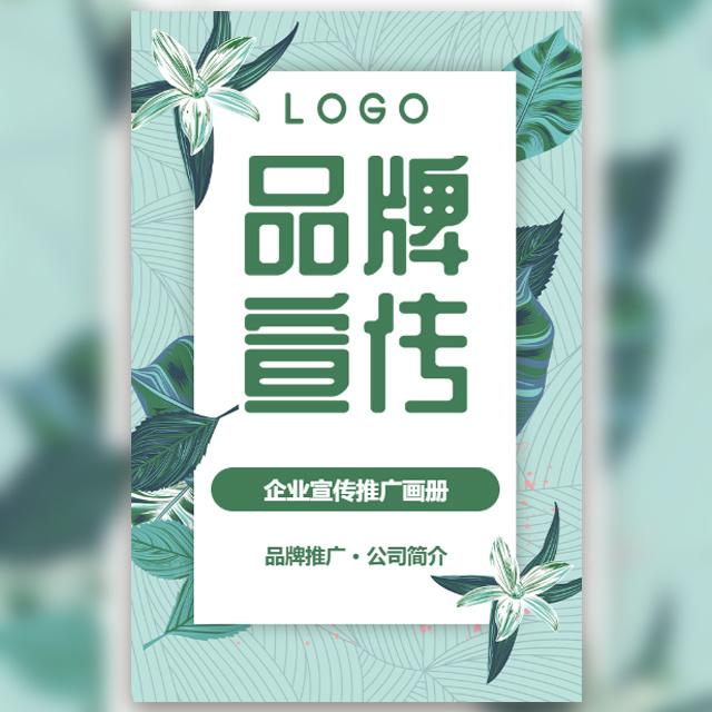 清新企业品牌宣传推广画册公司简介