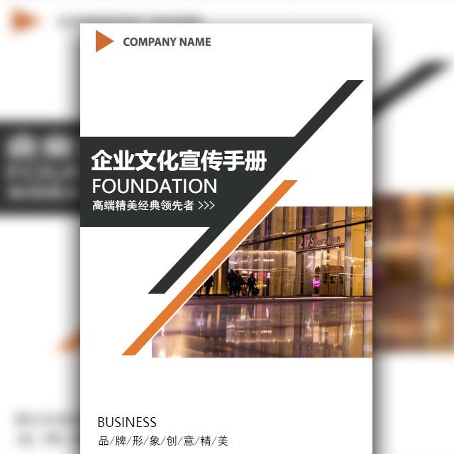 企业文化品牌产品宣传画册高端简约风