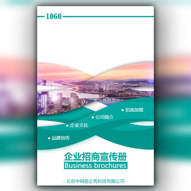 商务风企业宣传公司简介招商加盟宣传册通用模板