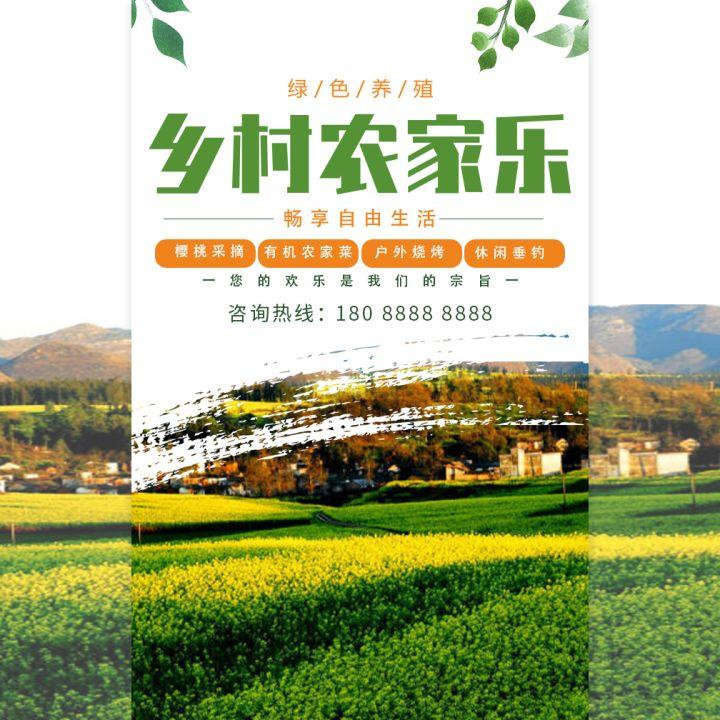 农家乐农家采摘农场生态庄园宣传介绍