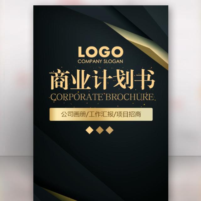 企业商业项目计划书公司招商手册