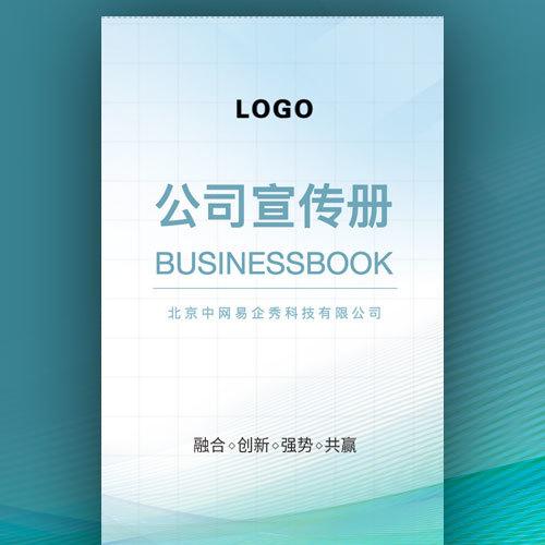简洁商务蓝色企业宣传画册公司简介招商加盟