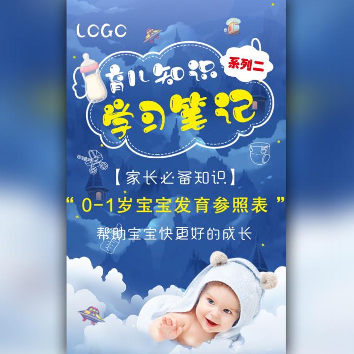 育儿知识学习宝典~【0-1岁宝宝发育参照表】