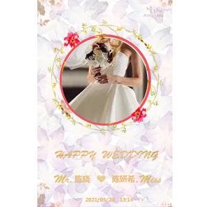 西方北欧风格花朵婚礼请柬喜帖邀请函模板