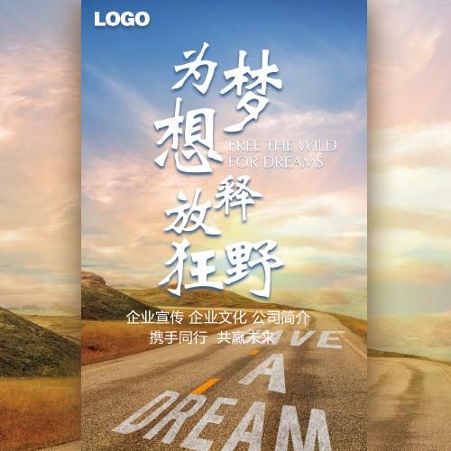 高端励志商务简约为梦想释放狂野企业文化宣传画册